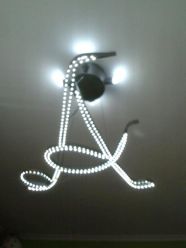 lampadario a led acciaio inoc